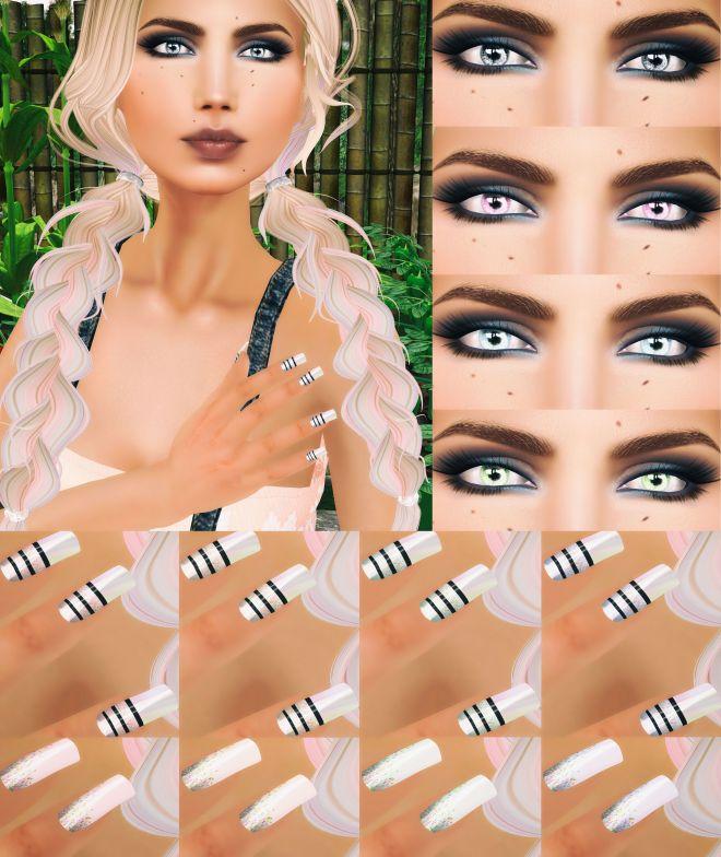MESANGE Manderley Eyes and .kosmetik Fable Nails.sprinkles