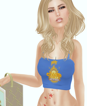 Slipper Paisly Tube Top Gift and Tameless Clarrisa new hair