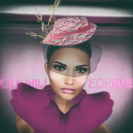 WISH Heather Chapeau Texture change Hat wveil by Couture Chapeau