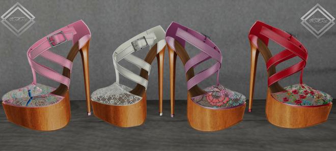 Shoenique Designs Emii shoe colors