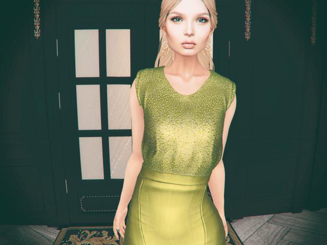 Jana's Classic Designs Tara Dress in Green at Designer Showcase