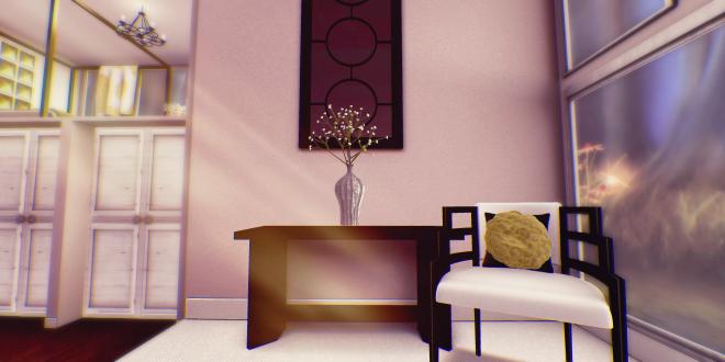 Keari Peony Console Mirror Gypsoph Vase Chair